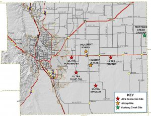 El Paso County Oil and Gas Map